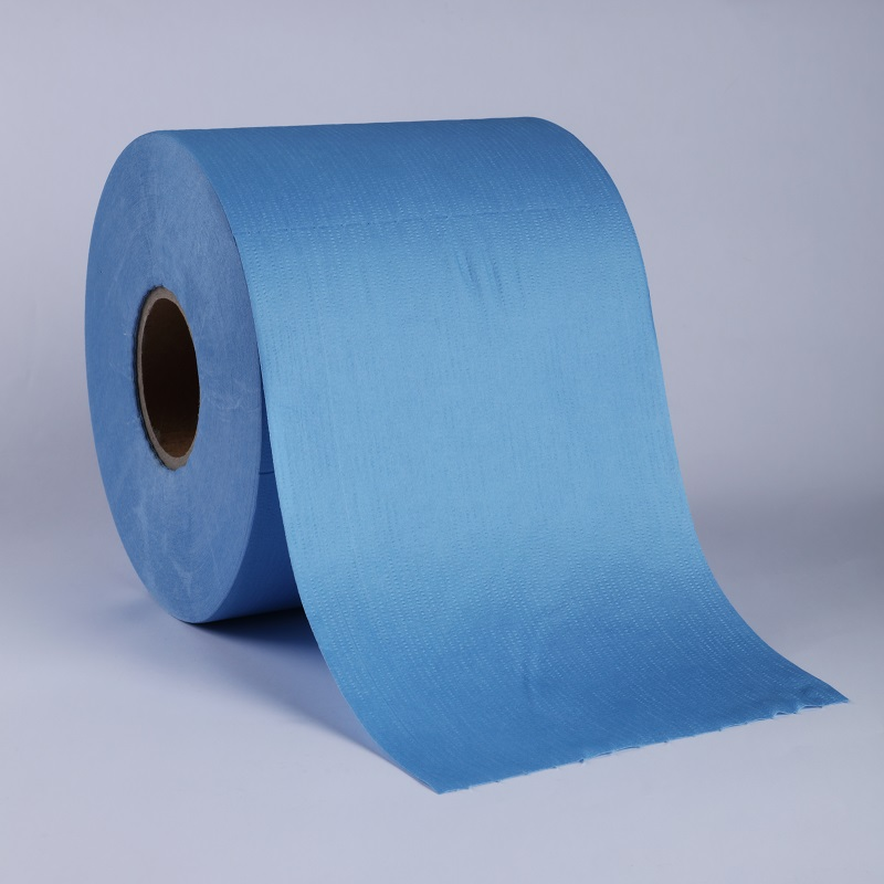 Nonwoven Blue Roll Wipes